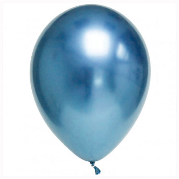 Globos Chrome azul / 2 uds.