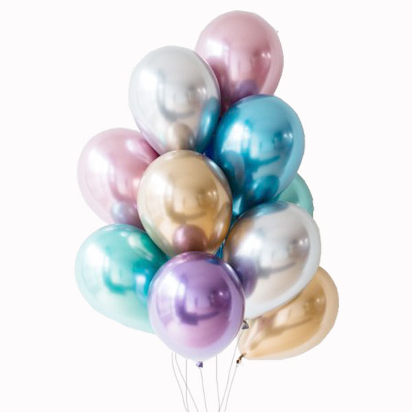 Globos Chrome lila / 2 uds.