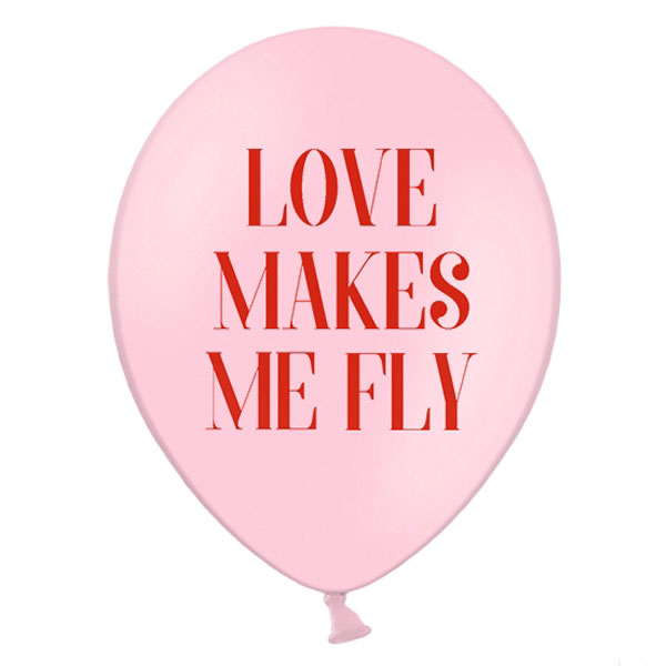 "Globo ""Love make me fly"" / 2 uds."