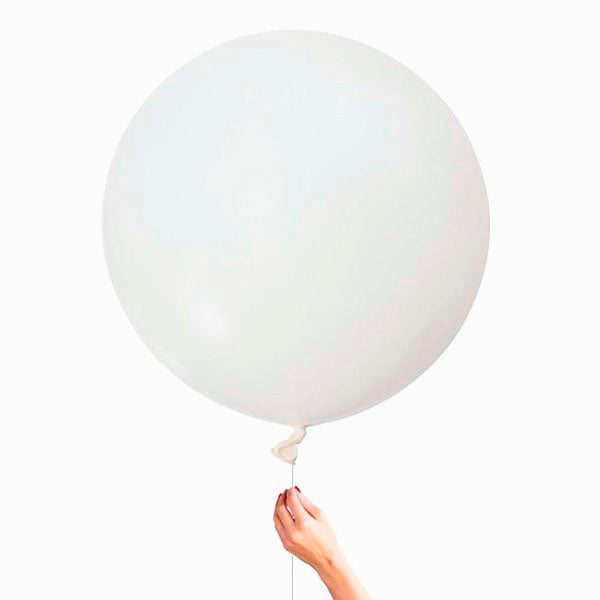 Globo XL blanco satinado