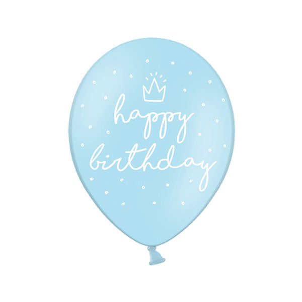 Globos Happy Birthday azul / 2 uds.
