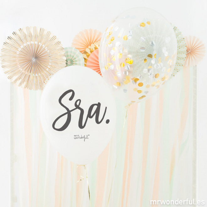 Globos L Sr. y Sra Mr. Wonderful / 4 uds.