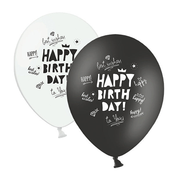 Mix globos HAPPY BIRTH DAY / 5 ud. - La Fiesta de Olivia
