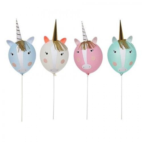 Kit DIY globos unicornio / 4 uds.