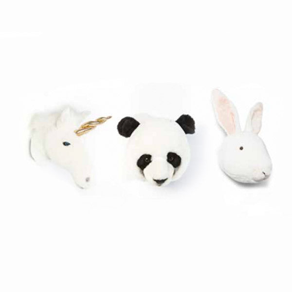 Set mini cabezas de peluche Lovely
