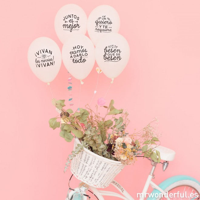 Mix globos bodorrios geniales Mr. Wonderful / 10 uds.