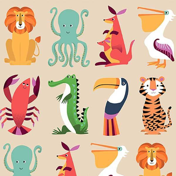 Papel decorado Animales