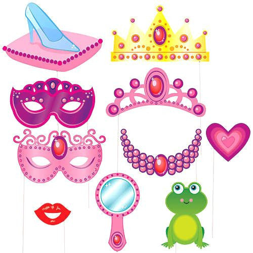 Kit Photo Booth Princess / 10 Piezas - La Fiesta de Olivia