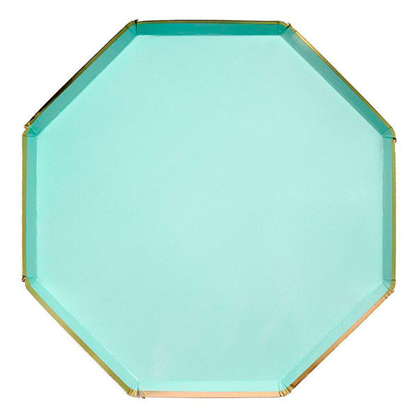 Plato hexagonal mint / 8 uds.