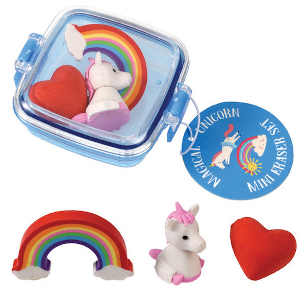 Set gomas de borrar unicornio