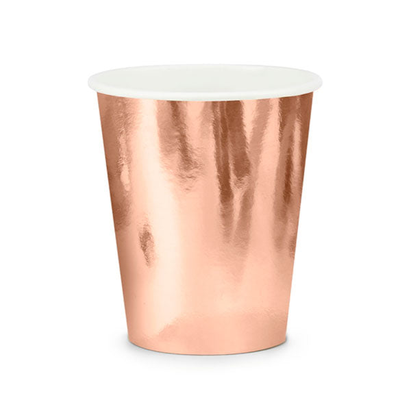 Vasos rose gold / 6 uds.