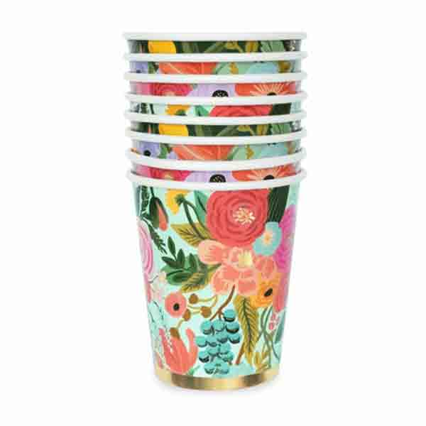 Vasos mix Garden Rifle Paper & Co. / 12 uds.