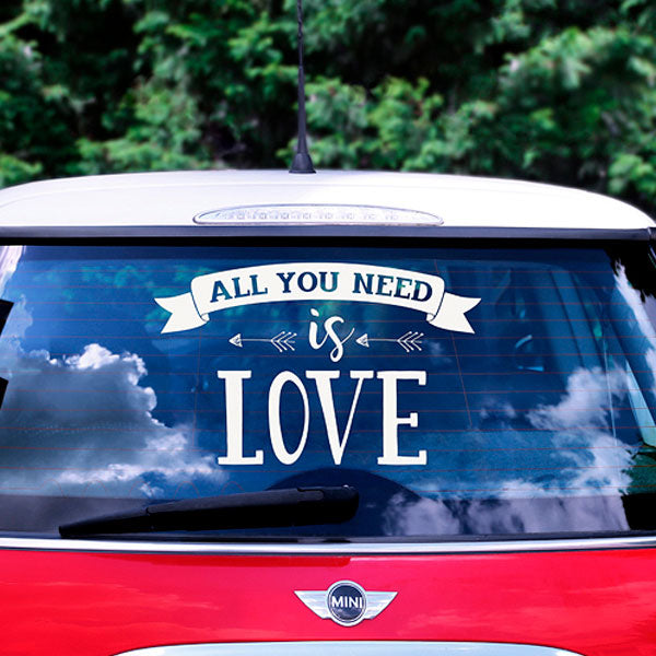 "Vinilo para coche de boda ""All you need"""