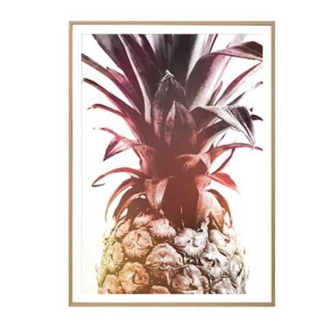 Toile Ananas Abstraite Pourpre | Ananas-Passion