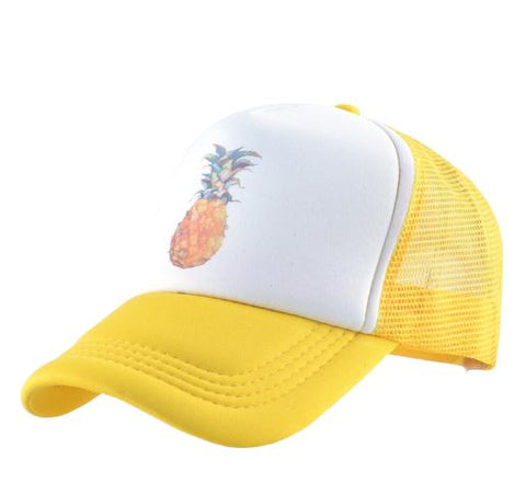 Casquette Ananas  <br> Trucker Jaune | Ananas-Passion