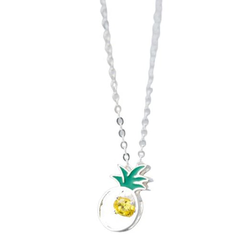 Collier Ananas<br> Argent Boohoo | Ananas-Passion