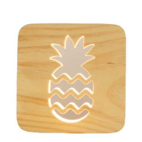 Lampe Ananas<br> En Bois | Ananas-Passion