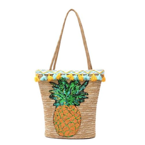 Sac À Main Ananas <br> En Paille Boohoo | Ananas-Passion