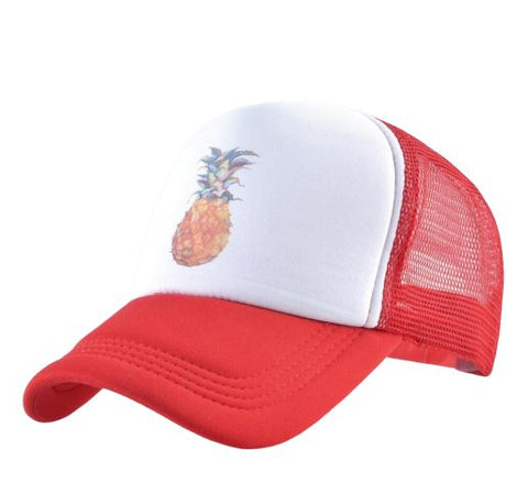 Casquette Ananas  <br> Trucker Rouge | Ananas-Passion