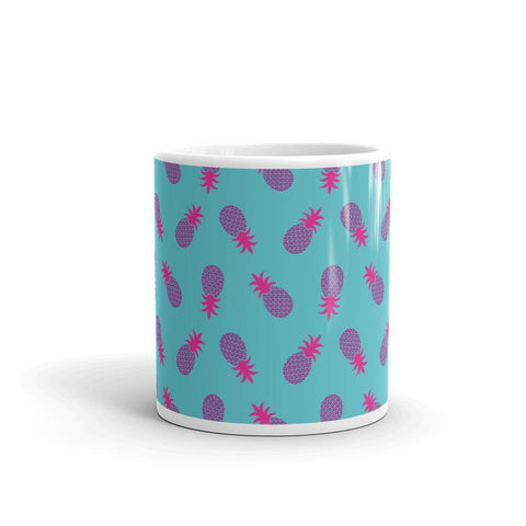 Mug Ananas Pop Art Bleu