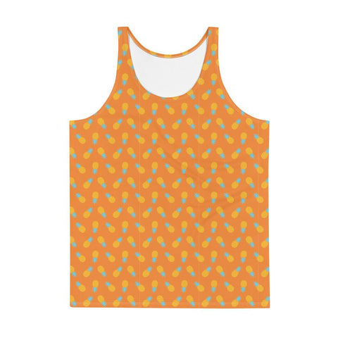 T-Shirt Ananas Débardeur Pop Art Orange