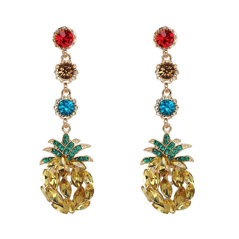 Boucle D'Oreilles Ananas <br>Peacy | Ananas-Passion