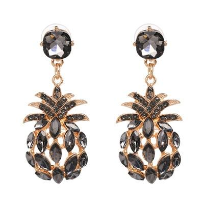 Boucle D'Oreille Ananas<br> Noir Luxury | Ananas-Passion