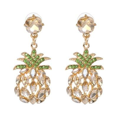 Boucle D'Oreilles Ananas<br> Marron Luxury | Ananas-Passion