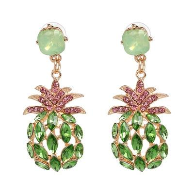 Boucle D'Oreilles Ananas<br> Vert Luxury | Ananas-Passion