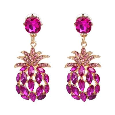 Boucle D'Oreilles Ananas Rose Luxury | Ananas-Passion