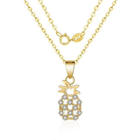 Collier Ananas <br>Strass | Ananas-Passion
