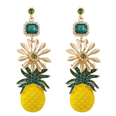 Boucle D'Oreilles Ananas <br> Fleury | Ananas-Passion
