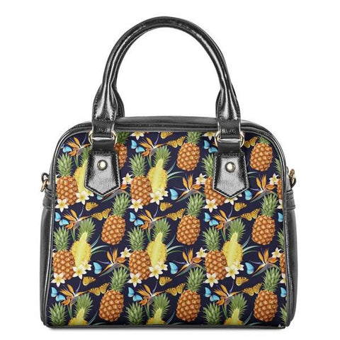 Sac Ananas<br> En Cuir Effet Papillon | Ananas-Passion