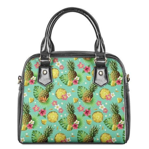 Sac Ananas<br> En Cuir Tropical Pop | Ananas-Passion