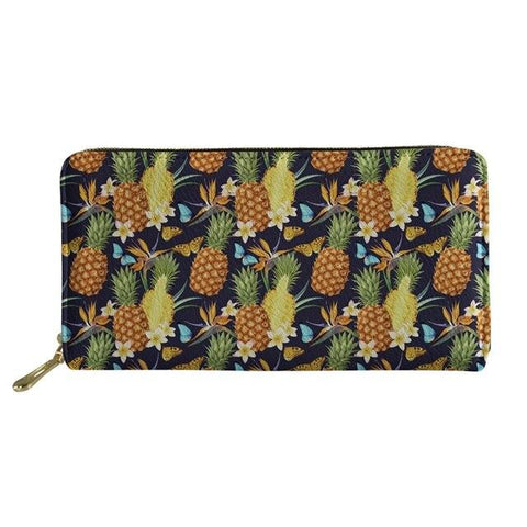 Pochette Ananas<br> En Cuir Effet Papillon | Ananas-Passion