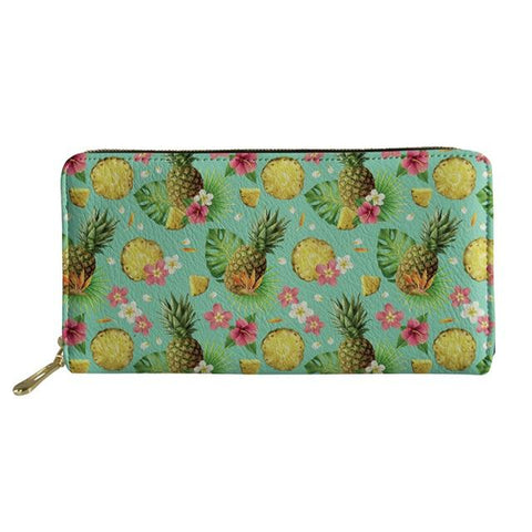 Pochette Ananas<br> En Cuir Tropical Pop | Ananas-Passion