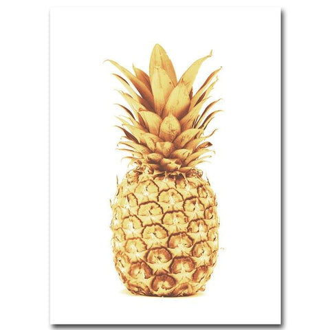 Toile Ananas  <br> En Or | Ananas-Passion