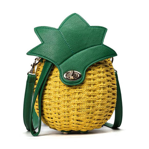 Sac Ananas En Paille <br>Tiny | Ananas-Passion