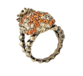 Bague Ananas Orange Antique Vintage