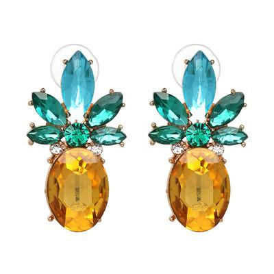 Boucle D'Oreilles Ananas <br>Glossy | Ananas-Passion