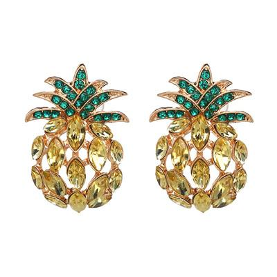 Boucle D'Oreilles Ananas <br>Shiny | Ananas-Passion