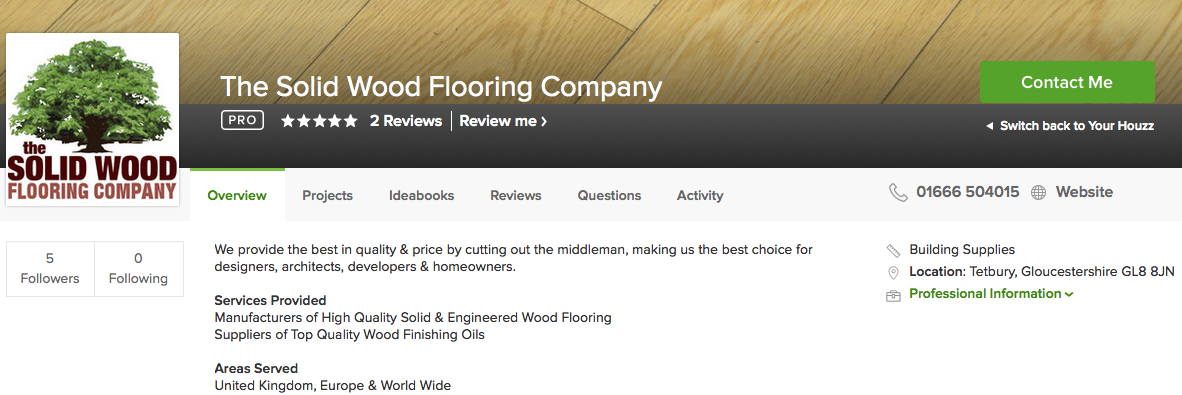 The Solid Wood Flooring Company win Award.