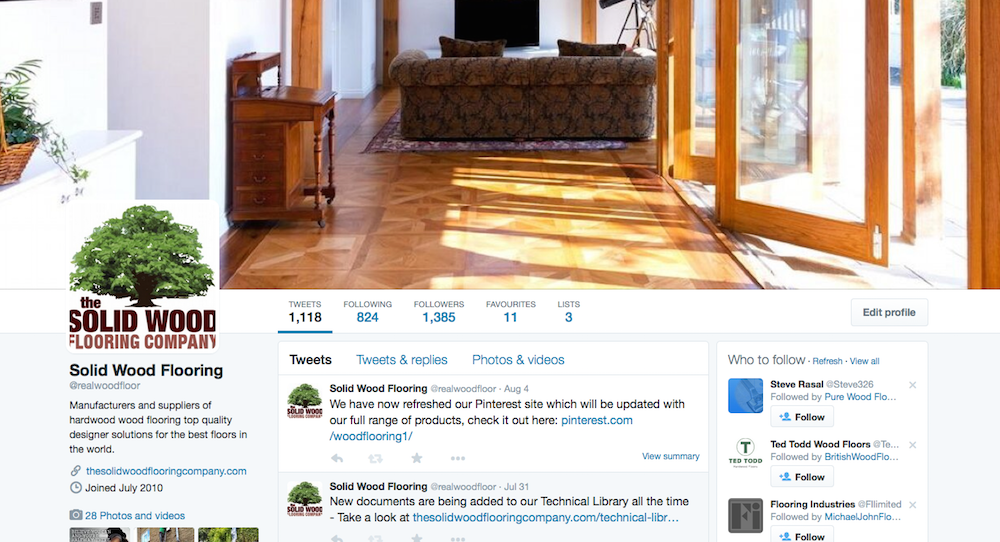 Get Social with the Solid Wood Flooring Company.