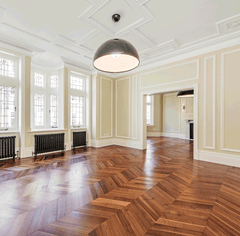 CHEVRON AMERICAN BLACK WALNUT PARQUET FLOORING
