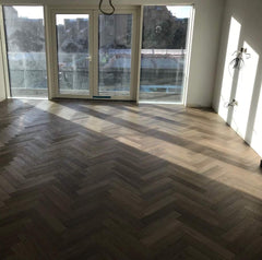 HERRINGBONE FUMED PARQUET UV OILED ENGINEERED OAK WOOD FLOORING