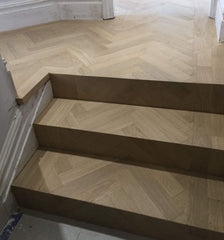 HERRINGBONE UNFINISHED OAK BOARDS  ENGINEERED OAK WOOD FLOORING