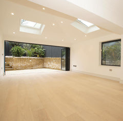 WHITE LACQUERED ENGINEERED OAK WOOD FLOORING