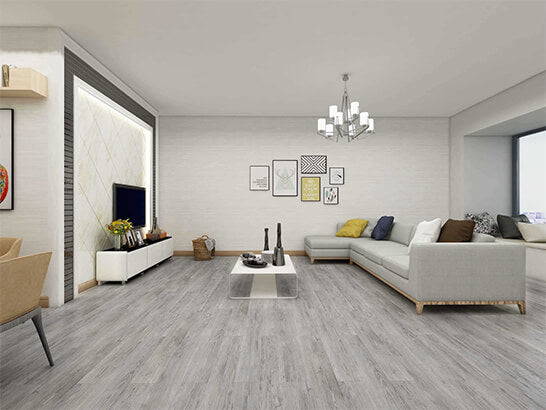 Impervia Commercial Silver Grey Oak Luxury Vinyl Flooring