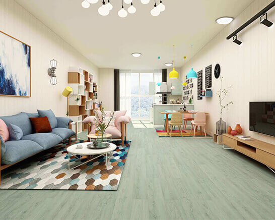 Impervia Commercial Green Grey Oak Luxury Vinyl Flooring