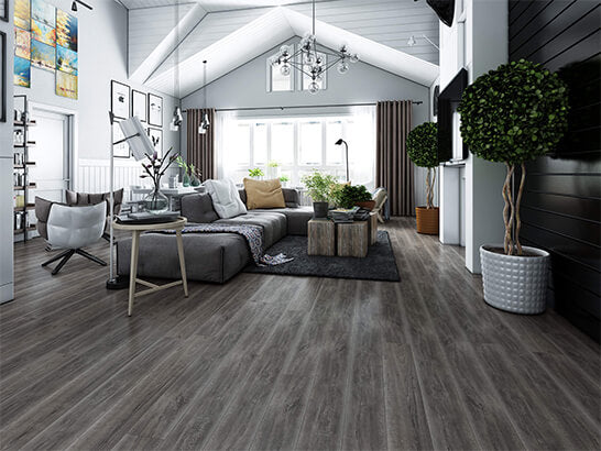 Impervia Dark Grey Oak Luxury Vinyl Flooring